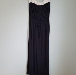 J.Crew Color Block Sleeveless Maxi Dress
